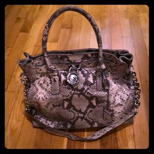 Micheal Kors snakeskin tote